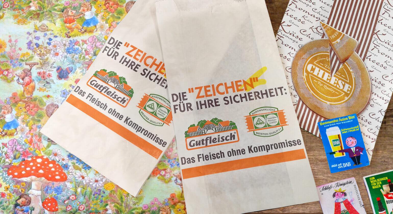 ドイツ直輸入紙雑貨 マルシェ袋 包装紙 使用済み切手