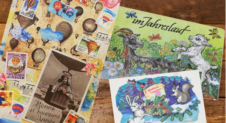 ドイツ直輸入紙雑貨 ヴィンテージクリスマスカード ドイツ絵本 ドイツ蚤の市